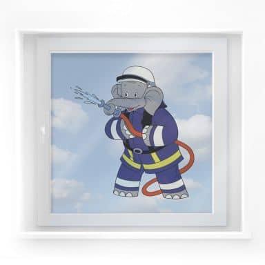 Benjamin als Brandweerman