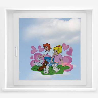 Fensterbild - Bibi&Tina Süße Häschen