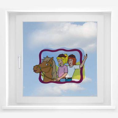 Fensterbild - Bibi&Tina eingerahmt