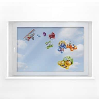 Fensterbild Gelini Fallschirmspringer Set
