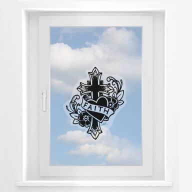 Fensterbild LA Ink Faith