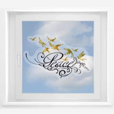 Fensterbild LA Ink Peace