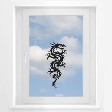 Fensterbild Miami Ink Chinesischer Drachen