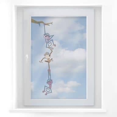 Fensterbild Affenschaukel