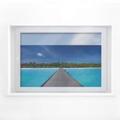 Window decor: Carribbean