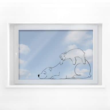 Fensterbild Eisbären