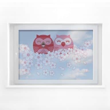 Window sticker cherry owl