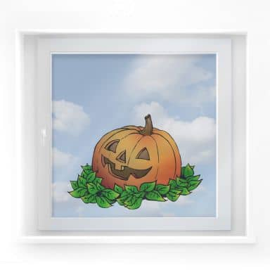 Window decor: Pumpkin Head 2