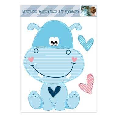 Fenstersticker Happy Hippo