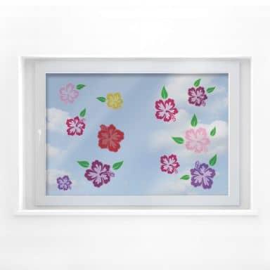 Fensterbild Hibiskusblüten