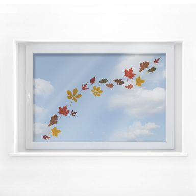 Fensterbild Blätter Set Herbst 02