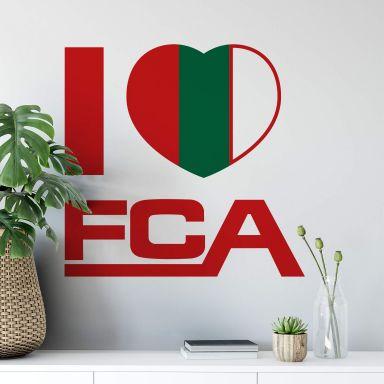 Wandtattoo I love FCA