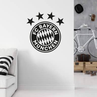 Wandtattoo FC Bayern München Logo einfarbig