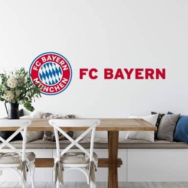 Muursticker Bayern München - Logo in kleur