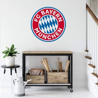 Wandtattoo FC Bayern München Logo ohne Sterne