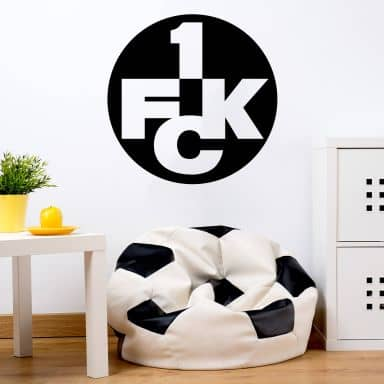 Wandtattoo 1.FC Kaiserslautern Logo einfarbig