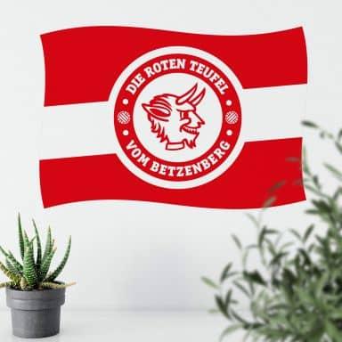 Wandtattoo 1.FC Kaiserslautern Fahne