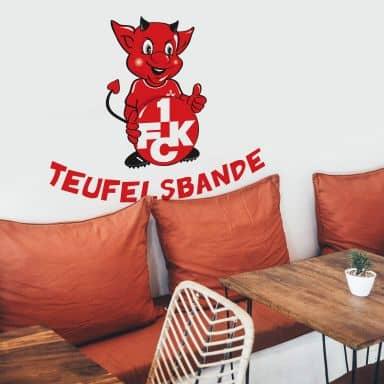 Wandtattoo 1.FC Kaiserslautern Teufelsbande mit Spruch