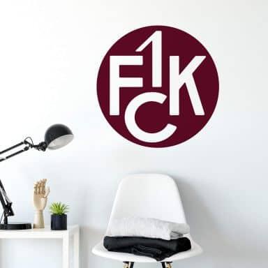 Wandtattoo 1. FCK Traditionslogo
