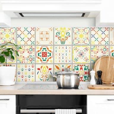 Sticker pour carrelage Villa tzigane - Set de 12