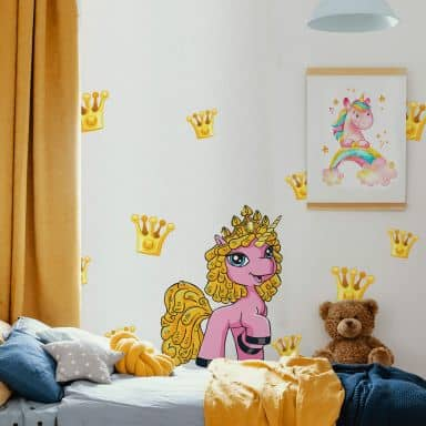 Muursticker Filly Unicorn - Party Samba