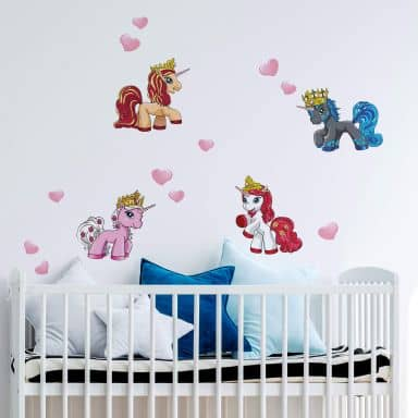 Wandtattoo Filly Unicorn Romance Set