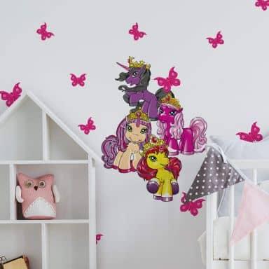 Muursticker Filly Unicorn - Beauty Set