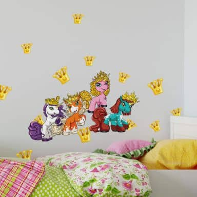 Wandtattoo Filly Unicorn Party Set