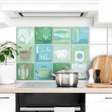 Fliesenaufkleber Loske - In the Kitchen - 12er Set