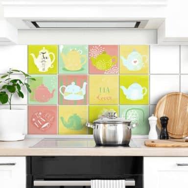 Judith Loske Tile stickers - Tea Time