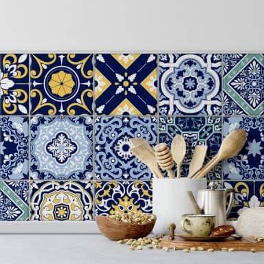Fliesenaufkleber Marokkanische Kacheln - 12er Set