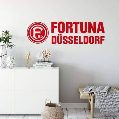 Wandtattoo Fortuna Düsseldorf Logo mit Schriftzug
