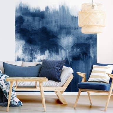Fototapete Nouveauprints - Watercolour Brush Strokes (blau)