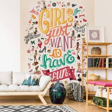Fototapete Tohmé - Girls just wanna have fun - 192x260 cm
