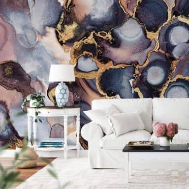 Fotobehang Fredriksson - Roze en Gouden Tinten