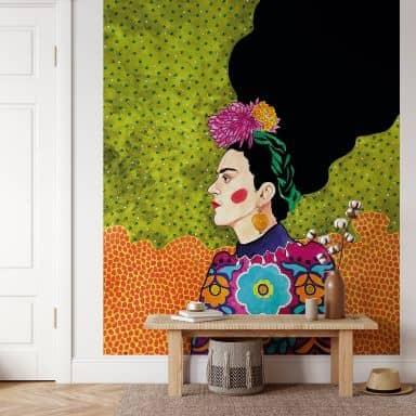 Fototapete Hülya - Frida im Portrait
