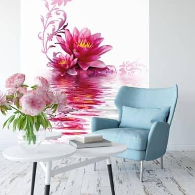 Papier peint photo Magie des fleurs - 144x260 cm