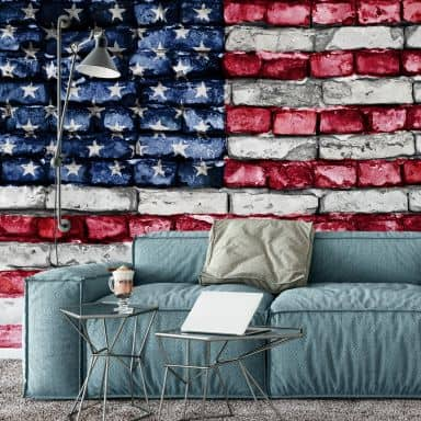 Stars and Stripes Wall - Photo Wallpaper