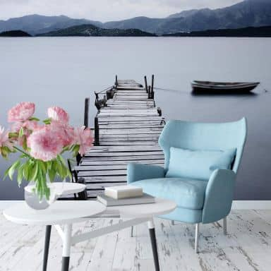 Papier peint photo Lac de montagne - 336x260 cm