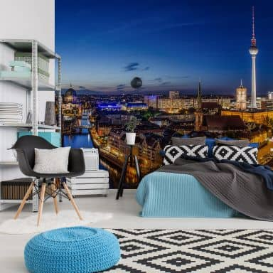 Fototapete Berlin Panorama - 432x260 cm