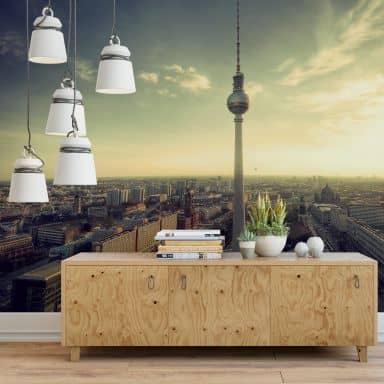 Papier peint photo - Panorama Berlinois de la Fernsehturm (Tour de la Télévision)