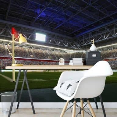 Fototapete - Fortuna Düsseldorf Stadion Eckfahne - 384x260 cm