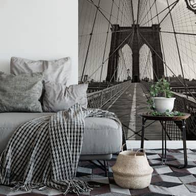 Brooklyn Bridge Perspective - Photo Wallpaper