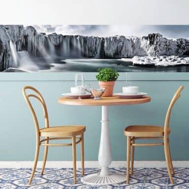 Fototapete  Shcherbina - Islands Wasserfälle - Panorama