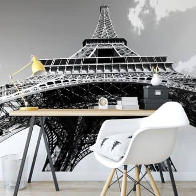 Eiffel Tower in Perspective - Photo Wallpaper
