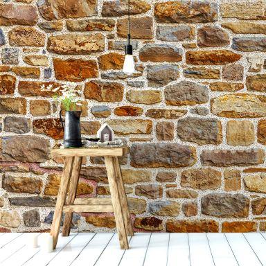 3d wandgestaltung stein dekorativ ideen innen, wohnzimmer tapeten & fototapeten für das wohnzimmer | wall-art.de, Design ideen