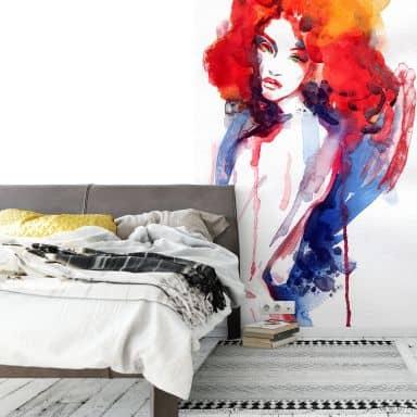 Papier peint photo - La femme aux heveux roux