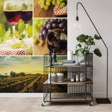 Wine Collage - Photo Wallpaper