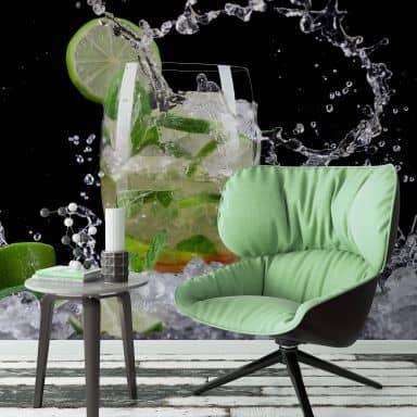 Fototapete Splashing Mojito