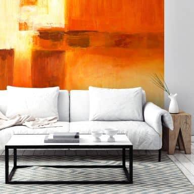 Fototapete Schüßler - Composition in Orange andBrown